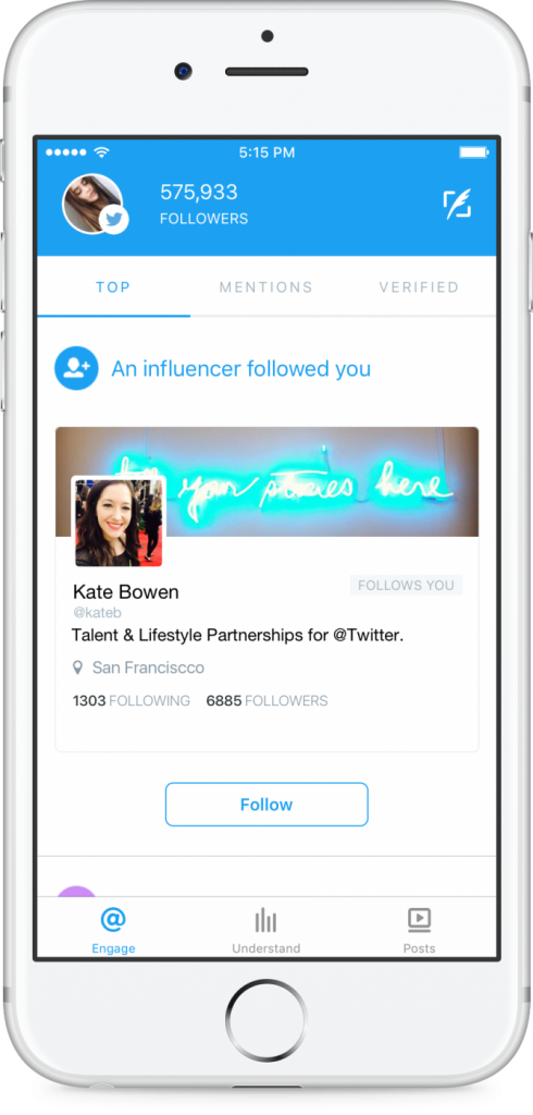 EngageInPhone-influencer-follow